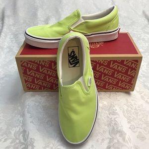 Vans - Classic Slip Ons - Florescent Green